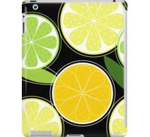 Citrus fruit on black background - Black designers Edition iPad Case/Skin