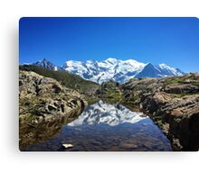 Reflection Mont Blanc Canvas Print