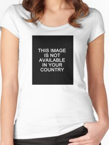 This image is not available in your country Women's Fitted Scoop T-Shirt
