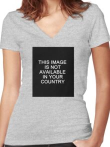 This image is not available in your country Women's Fitted V-Neck T-Shirt