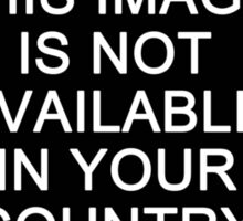 This image is not available in your country Sticker