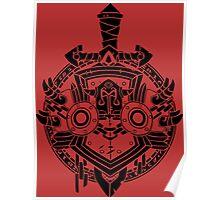 Warrior Crest Poster