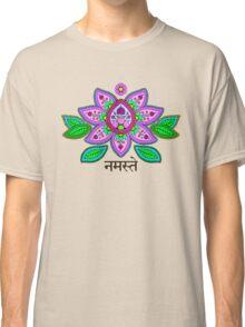 Mehndi Style Namaste Lotus Classic T-Shirt