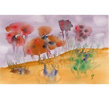 Watercolor abstract flowers Photographic Print