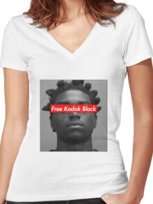Free Kodak Black Women's Fitted V-Neck T-Shirt