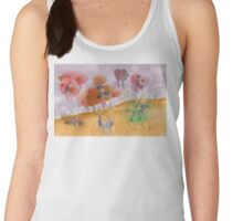 Watercolor abstract flowers Women's Tank Top