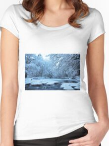Winter magic! Women's Fitted Scoop T-Shirt