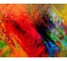 Red Hot abstract art Photographic Print