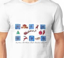 Snow flakes Christmas design Unisex T-Shirt