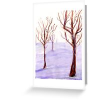 Watercolor Snowy Trees Greeting Card