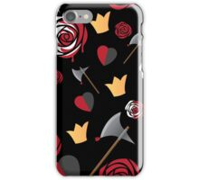 Queen of Hearts icons iPhone Case/Skin