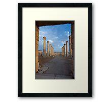 Columns in Jerash Framed Print