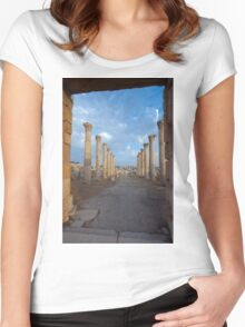 Columns in Jerash Women's Fitted Scoop T-Shirt