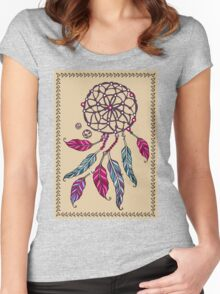 Indian Dream catcher- tribal amulet. Women's Fitted Scoop T-Shirt