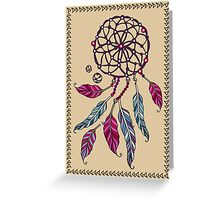 Indian Dream catcher- tribal amulet. Greeting Card