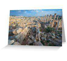 Columns in Jerash Greeting Card