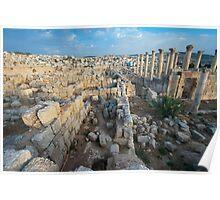 Columns in Jerash Poster