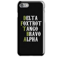 Delta Foxtrot Tango Bravo Alpha - Green iPhone Case/Skin