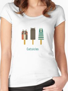 Catsicles Women's Fitted Scoop T-Shirt
