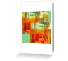 Intersect Orange abstract art Greeting Card