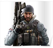 Buck Rainbow 6 Siege - portait Poster