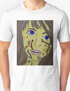 Patterned Face Unisex T-Shirt