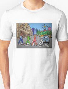 The Beatles in via Roma Cagliari PoscArt Unisex T-Shirt