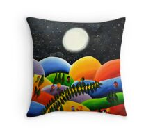 Colorful Hill Tops Throw Pillow
