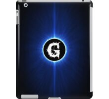 alphabet blue black G iPad Case/Skin