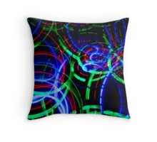 Neon Color Spiral Lights Throw Pillow