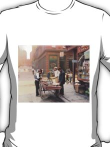 Clam seller on Mulberry Bend, New York, ca 1900 T-Shirt