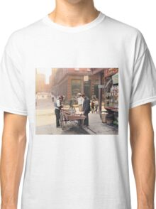 Clam seller on Mulberry Bend, New York, ca 1900 Classic T-Shirt
