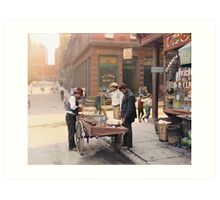 Clam seller on Mulberry Bend, New York, ca 1900 Art Print