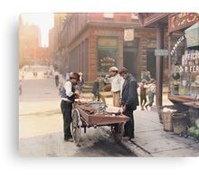 Clam seller on Mulberry Bend, New York, ca 1900 Metal Print