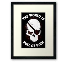 Skull Halloween Dark Black Scary Framed Print