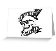 Keyboard Ninja Skull with Glass horror scary Greeting Card