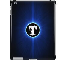 alphabet blue black T iPad Case/Skin