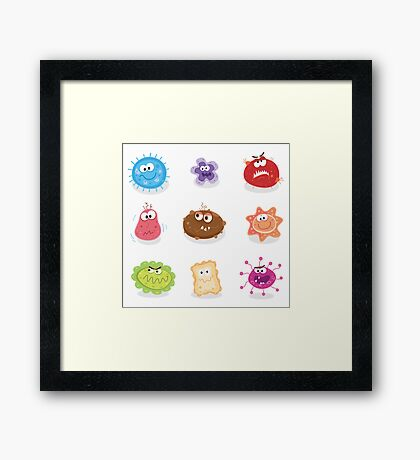 Bugs and germs I. Swine flu, cancer, staphylococcus or trojan virus Framed Print