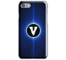 alphabet blue black V iPhone Case/Skin