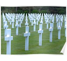 American WWII Cemetery - Colleville s/Mer Normandy France Poster