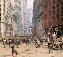 Curb Market in NYC, ca 1900 by Sanna Dullaway