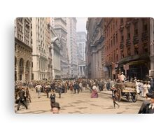 Curb Market in NYC, ca 1900 Canvas Print