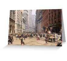 Curb Market in NYC, ca 1900 Greeting Card