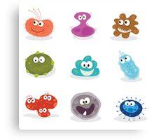 Germs II. Swine flu, cancer, staphylococcus or trojan virus Canvas Print