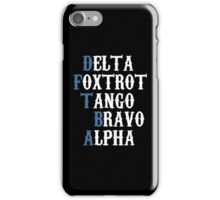 Delta Foxtrot Tango Bravo Alpha - Blue iPhone Case/Skin