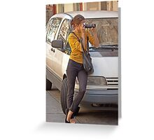 Tourist in Action Greeting Card