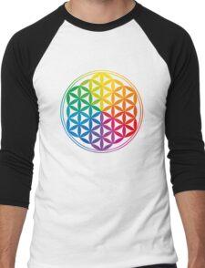 Flower Of Life, Sacred Geometry, Yoga Men's Baseball ¾ T-Shirt