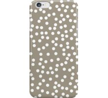 Cute Warm Gray and White Polka Dots iPhone Case/Skin