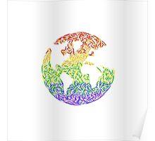 Rainbow World Poster