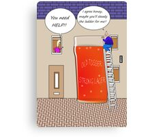 You need help drinking related cartoon humour card  Canvas Print